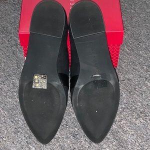 Kelly & Katie Shoes - Black faux suede flats. Sz 6.5